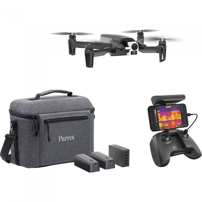 Parrot ANAFI Thermal Dual Camera, 4k Video, 410 C Range, 2x Lossless Zoom, 26 Min Flight Time