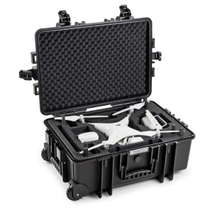 B&W Phantom 4 Series Case with wheels 6700/B/DJI4P