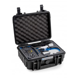 B&W Mavic Mini Combo Case - Durable - Water and Dust Proof Black 1000/B/MavicM