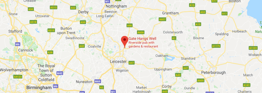 map showing location of Leicester Drones Club